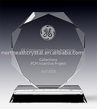 Diamond Cutting Clear Glass Crystal Award