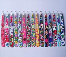 printed peony flower cosmetic tweezers/