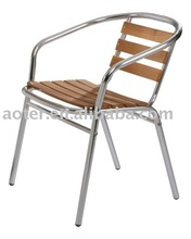 Aluminium wood bistro chair/cafe chair
