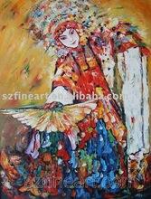 Chinese Opera People Oil Paintings