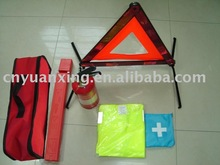 car road tool,warning triangle,first aid car emergency kit