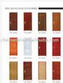 acero de madera puerta de borde