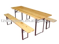 wooden folding long beer outdoor garden table set DN-WT-09