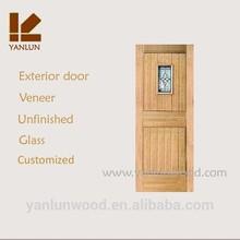 new design MDF with veneer wrought iron storm doors