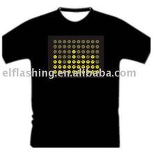 EL T-shirt, music flash t-shirt, el sound activate t-shirt