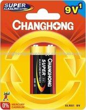 Changhong Alkaline 9V battery 6LR61 dry battery