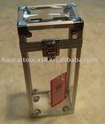 Transparent acrylic wine case, aluminum case very firm durable