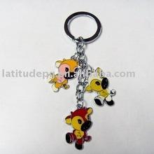 cute&cheap puppy metal keychain