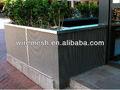 S s frisado wire compensação frisado wire mesh de parede decorativo malha
