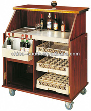 wood mobile bar counter T-11