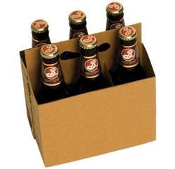 Cardboard 6 Pack Bottle Carrier Kraft $53.00 per case