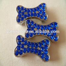 Promotional item metal slide bone charm for dog collar