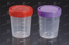 disposable 100ml urine container with screw cap
