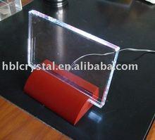 2d/3d K9 crystal blank plaque with light led base