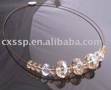 Bicone Cystal Beads Charms Bracelet