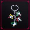2014 Fashion New Alloy Metal Enamel Pretty Girl Promotional Custom Personalized Key Chain