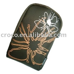 Custom silk print neopreneCasual PU Mobile Phone Case with zipper