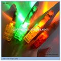 Greller Laser-Finger-Lichtstrahl