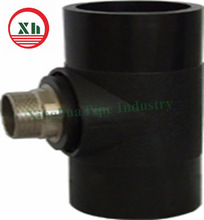 HDPE brass pipe fitting Tee plastic building material