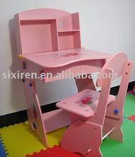 kids' wooden study desk adjustable top quality