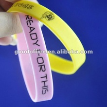 manufacture 100% silicon rubber band for 2012 promotion gift