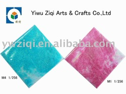 hexagon glitter powder for greeting cards