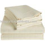 100% cotton white color 4pcs bedding set