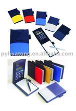 Calculator notebook with pen