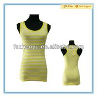 Lemon Stripe Ladies Tank Top Women Casual Western Tops