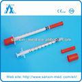 pouco espaço morto de seringas de insulina