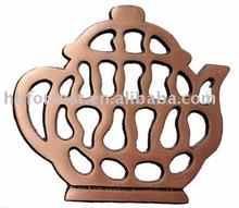 copper surface cast iron trivet