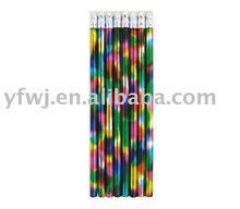 Bleistift mit Radiergummi (Hbbleistift, Farbenbleistift, riesiger Bleistift.)
