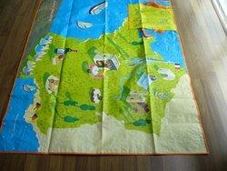 waterproof beach Mat folding shopping bag pp woven beach bag