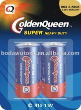 R14 carbon zinc battery