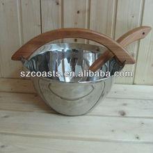 Sauna accessories,wood bucket,OEM