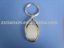 metal blank custom keychain/ engraving unique metal key holder/fashion printing key fob