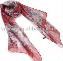 Ladies Floral Long Fashion Silk Scarf