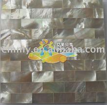 Random rectangle White lip seashell mosaic wall tiles
