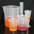 De medición de plástico del cilindro de equipos de laboratorio, pp cilindro graduado hecho en china