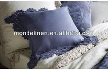 lace nature linen bedding set, pre washed, 25colors