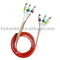 red green yellow pvc rca av cable for cars