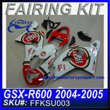 GSXR fairing GSX-R 750 600 fairing GSX-R 750 600 04 05 LUCKY STRIKE fairing FOR SUZUKI fairing FFKSU003