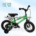 12 pulgadas bmx verde de la bicicleta de los niños de tres años de edad de las niñas y los niños