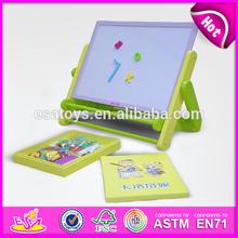 2015 New wooden children easel toy,popular wooden drawing board kit,hot sale children easel set magnetic drawing board WJ278567