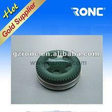 Semi-circle leather CD/DVD bag