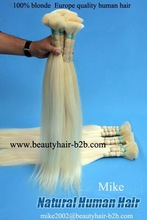 Factory Wholesale price Top Quality Full Head Euro SOCAP Blonde Color Remy Human Hair extensions