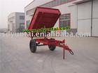single axle two wheel tipping farm trailer
