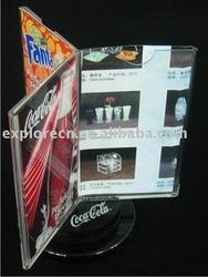 Menu holder acrylic display