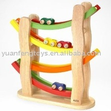 wooden toys&Racing track set &rally speed