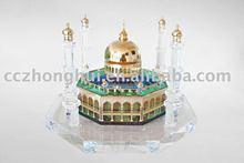 Folk art crystal building model